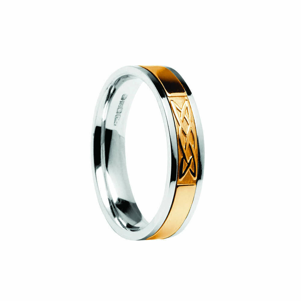 Mens 10kt Gold Signature Lover's Knot Wedding Band