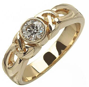 14kt Gold Celtic Solitaire Ring (1 x .25 ct.) Brilliant Cut Diamond
