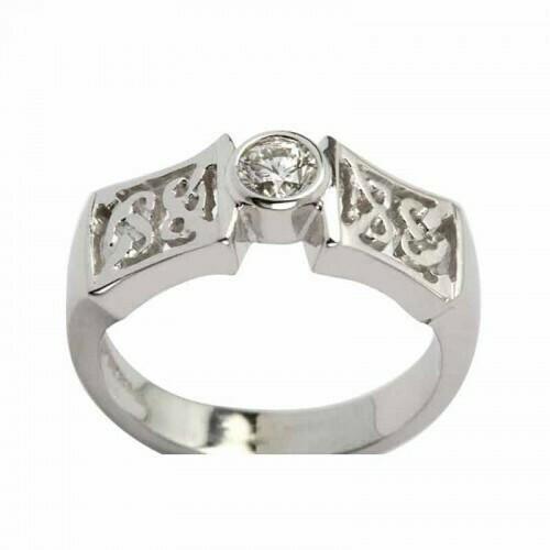 14kt Gold Celtic Solitaire Ring (1x .25 ct.) Brilliant Cut Diamond