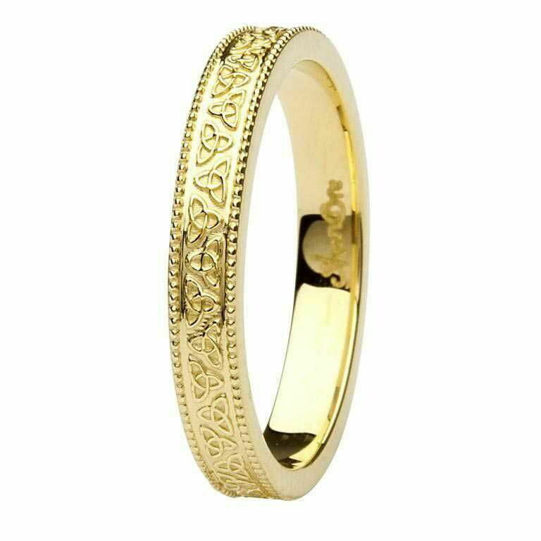 Celtic Trinity Knot 14kt Yellow Gold Wedding Ring