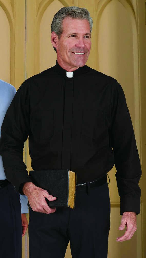 R.J. Toomey™ Men's Black Tab Collar Long Sleeve Comfort Shirt
