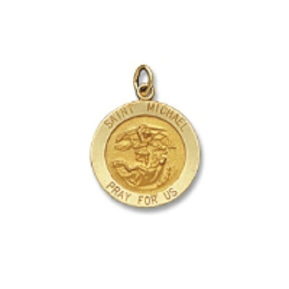 "3/4"" Diameter 14kt Solid Gold Medal of Your Choice"
