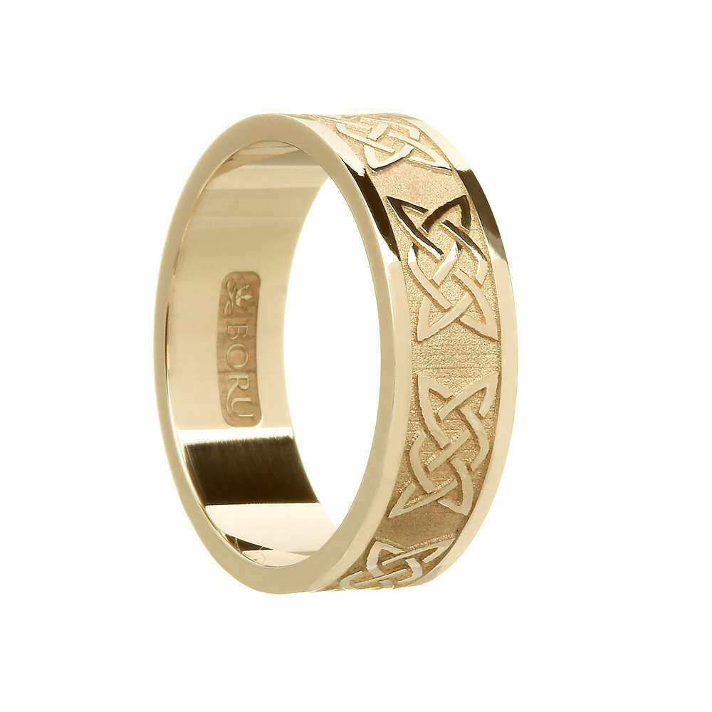 Mens 10kt Gold Lover's Knot Wedding Band
