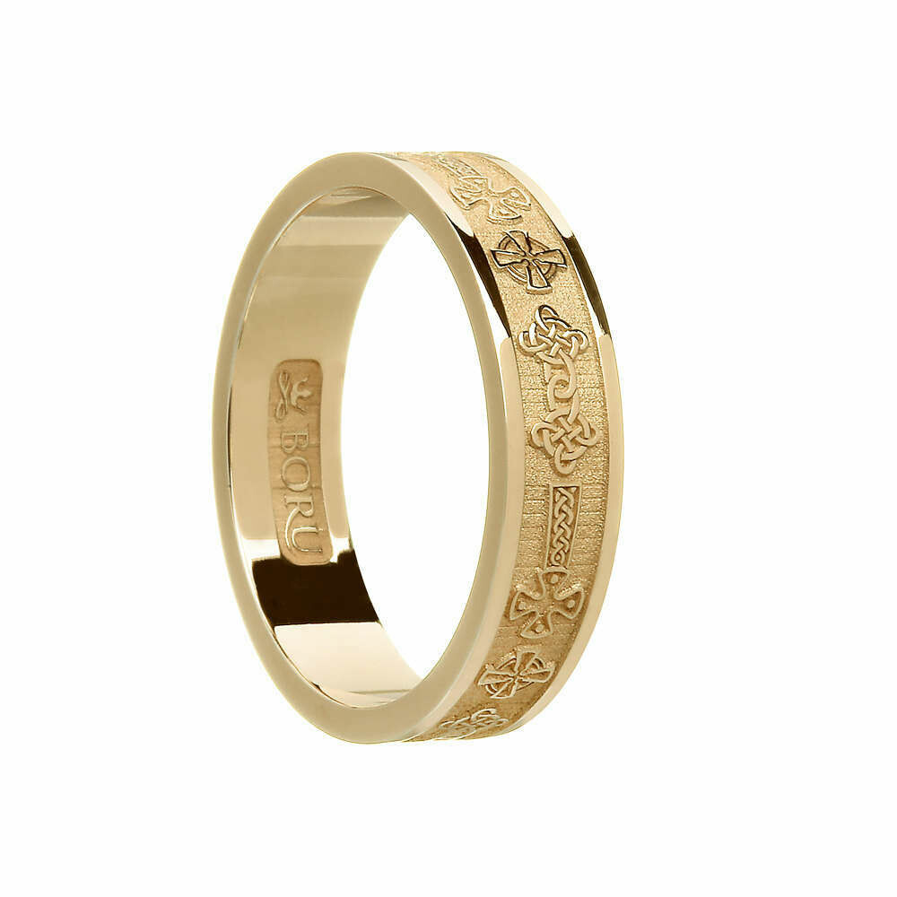 Ladies 10kt Gold Celtic Cross Wedding Band