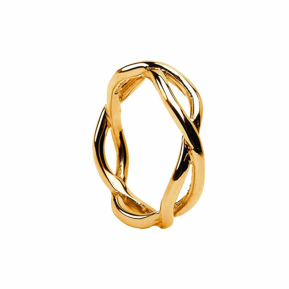Mens 10kt Gold Infinity Wedding Band