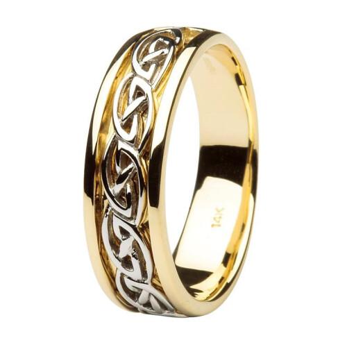 Gents 14kt Gold Wedding Ring Celtic Knot Design