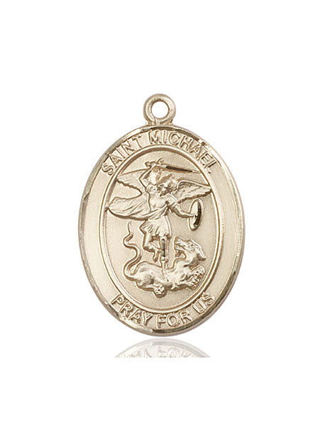 14kt Solid Gold Medal of your Choice- Large Size