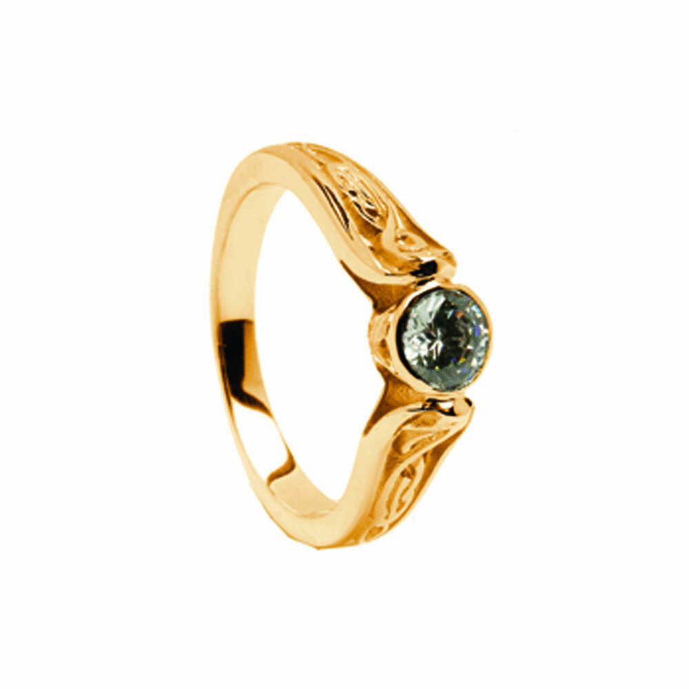 14kt Gold Diamond LeCheile Engagement Ring .050cts