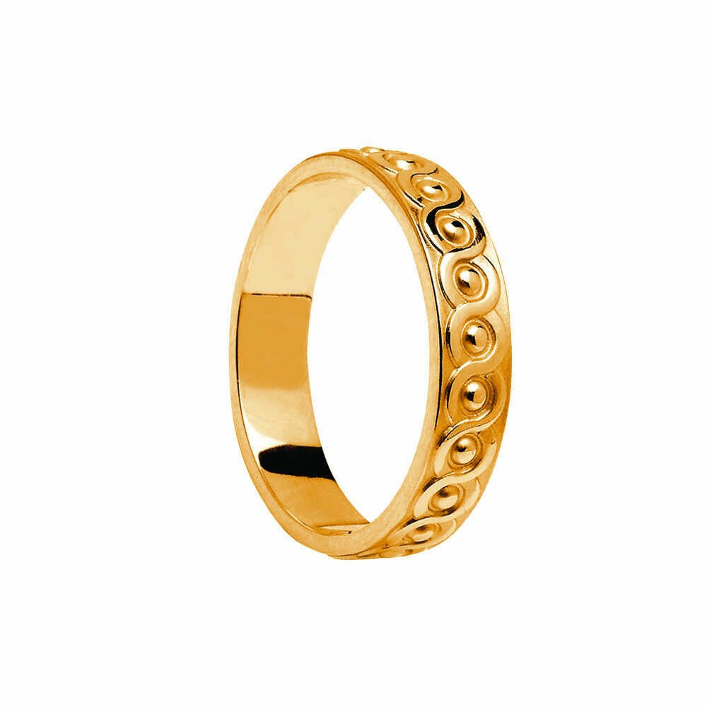 Ladies 10kt Gold Celtic Continuity Knot Wedding Band