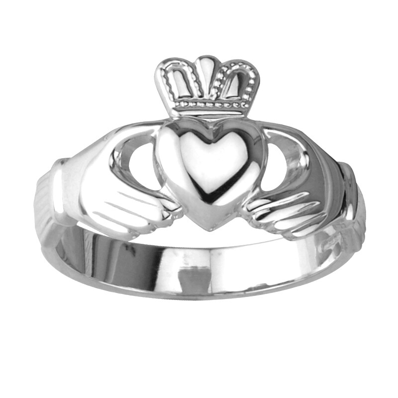 Ladies Claddagh Ring- Sterling Silver- Our Standard Silver Ladies Claddagh Ring