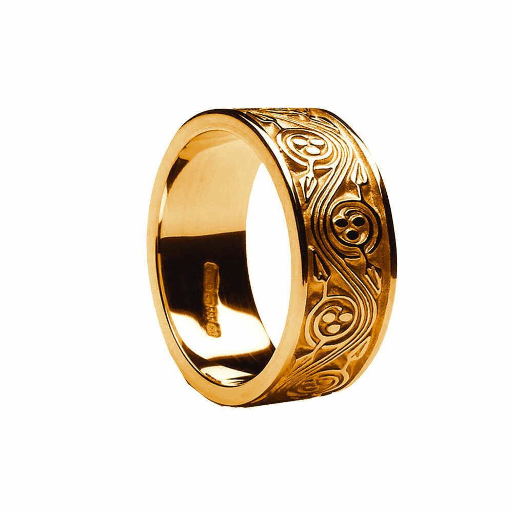 Mens 10kt Gold Triscele Weave Wedding Band