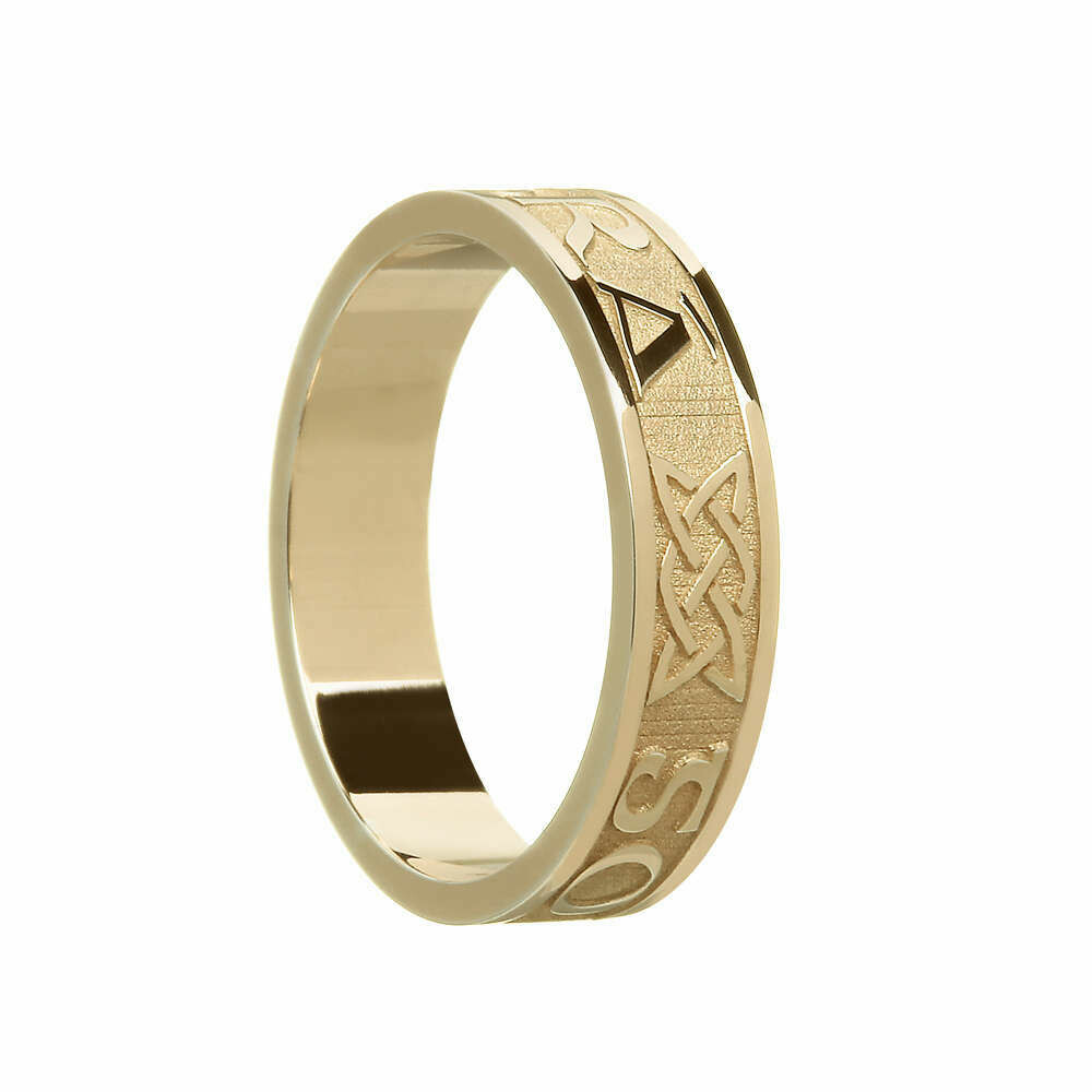 """Ladies 10kt Gold """"Gra Go Deo"""" (Love Forever) Wedding Band"""