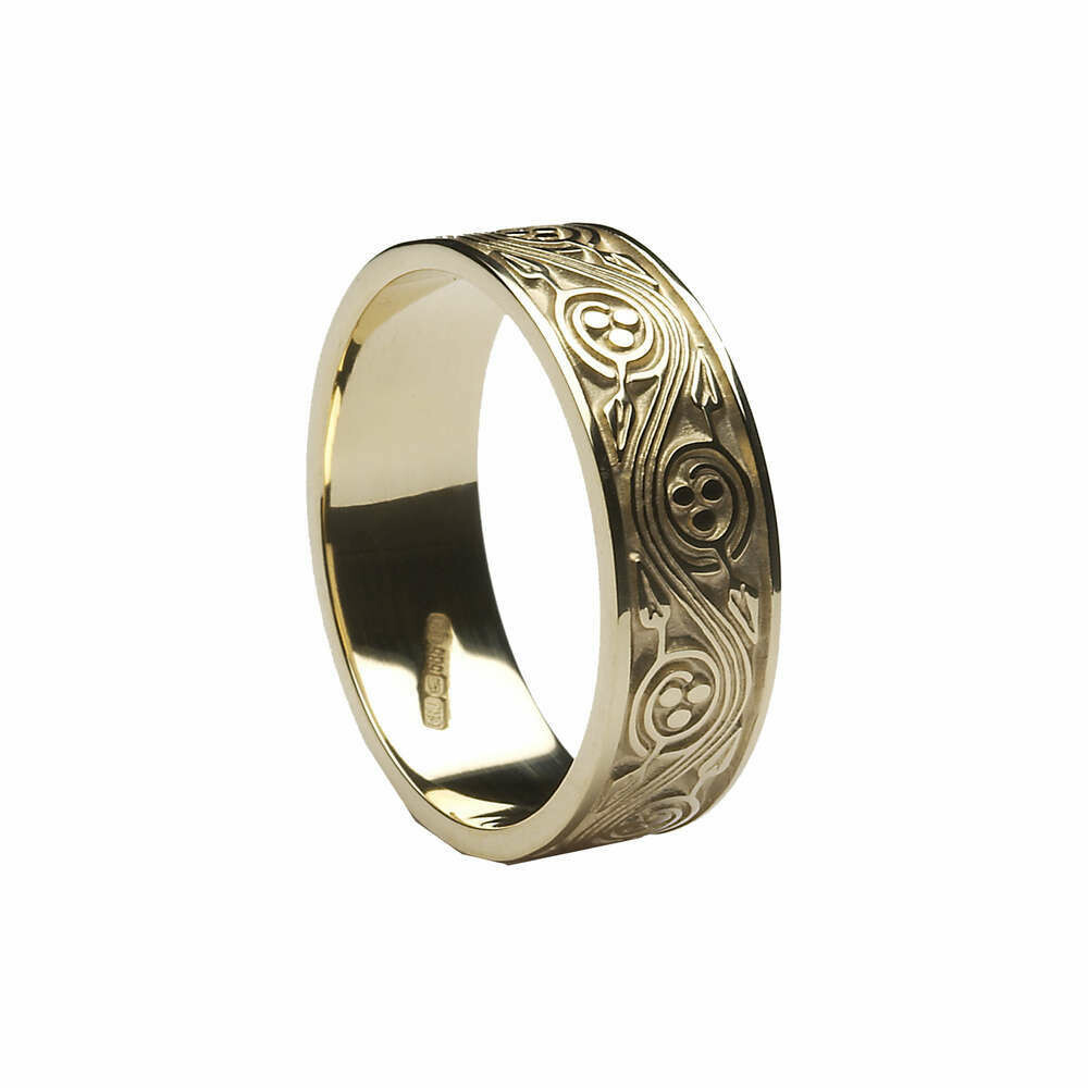 Ladies 10kt Gold Triscele Weave Wedding Band
