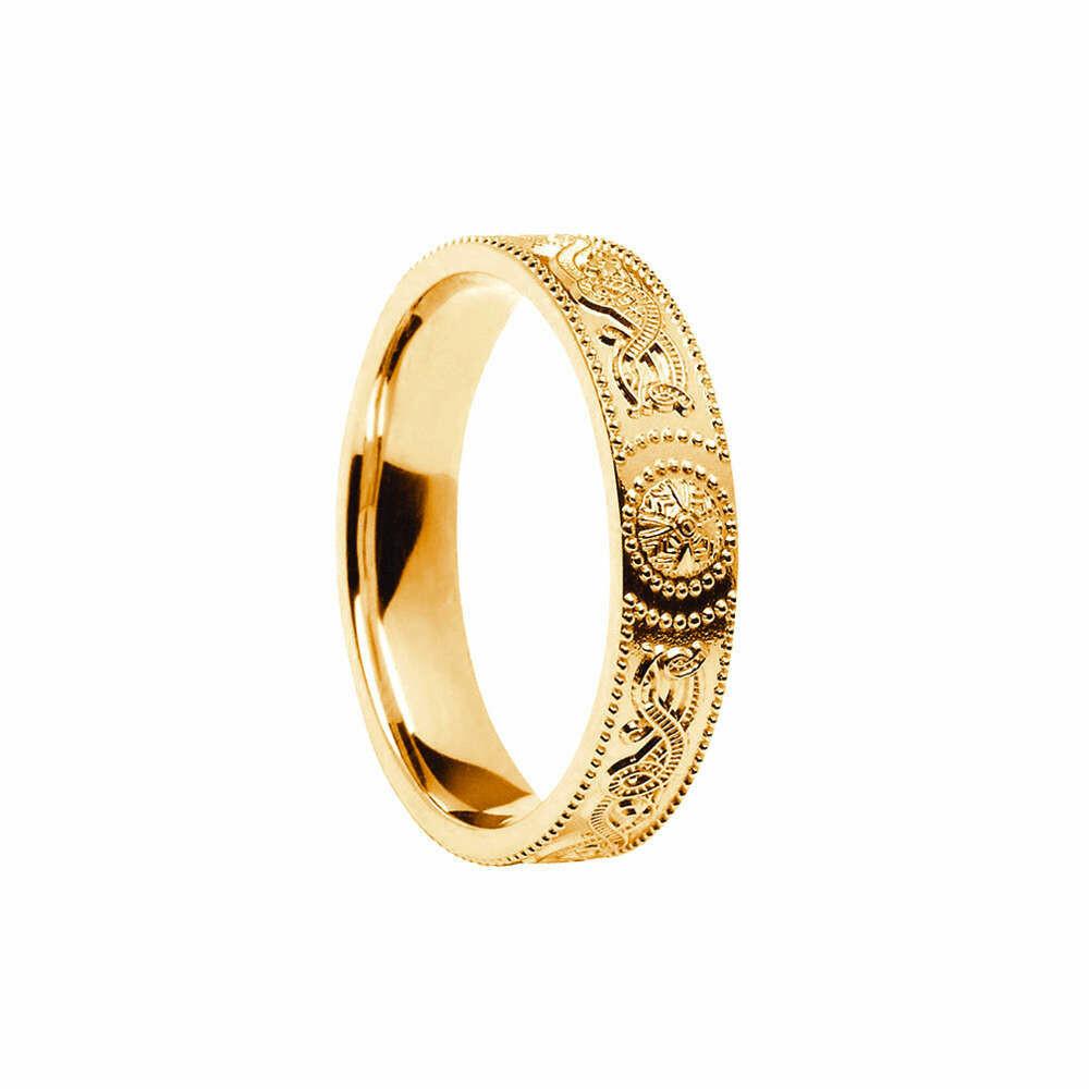 Ladies 10kt Gold Celtic Warrior® Shield Wedding Band, Comfort Fit