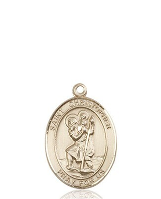 14kt Solid Gold Medal of your Choice- Medium Size