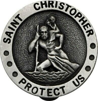St. Christopher Large Auto Visor Clip