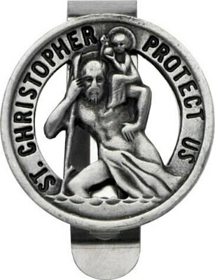 St. Christopher Auto Visor Clip
