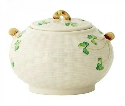 Belleek Shamrock Sugar Bowl