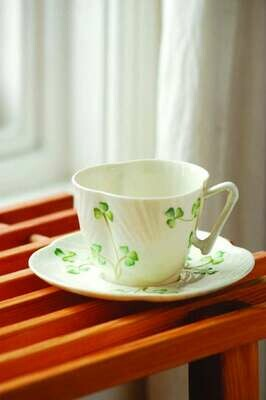 Harp Shamrock Tea Cup and Saucer