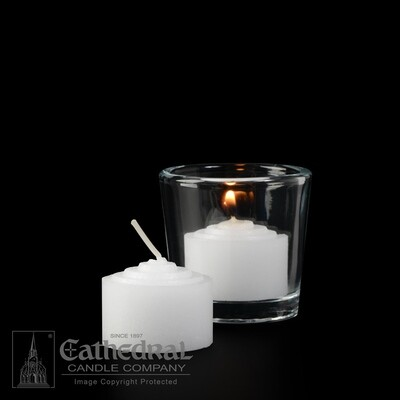 6-Hour Straight Side Votives- Box of 144 Candles