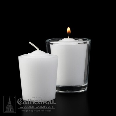 15-Hour Tapered Votives- Box of 36 Candles
