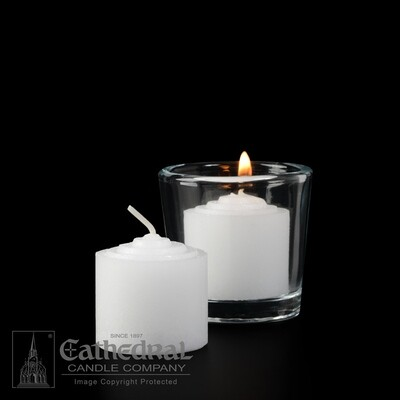 8-Hour Straight Side Votives- Box of 144 Candles