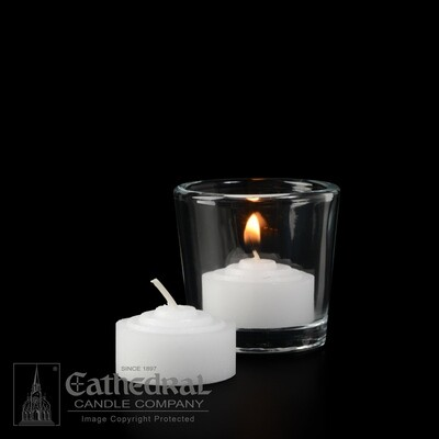 4-Hour Straight Side Votives- Box of 144 Candles
