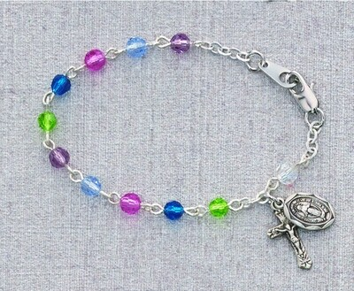 Multi-Color Baby Rosary Bracelet- 5.5
