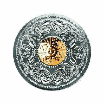 Sterling Silver Celtic Warrior® Brooch with 18K Gold Bead