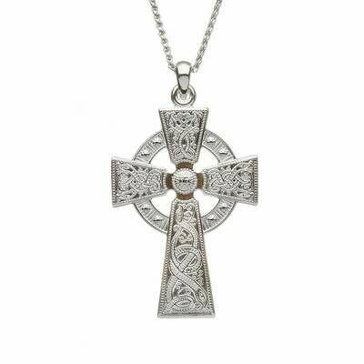 Sterling Silver Celtic Warrior® Cross- Medium & Chain