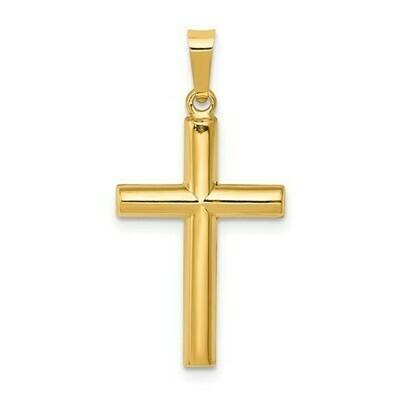 14kt. Gold Tube Cross Pendant (Small)
