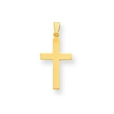 14kt. Gold Polished Cross Pendant (Small)