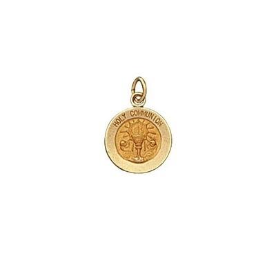 "1/2"" Diameter 14kt Solid Gold Holy Communion Medal"