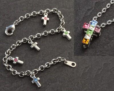 First Communion Pendant and Bracelet Set