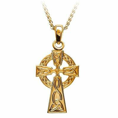 10kt Yellow Gold Traditional Celtic Cross- Small, and 10kt 18