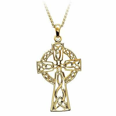 10kt Yellow Gold Filigree Celtic Cross- Medium, and 10kt 18