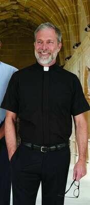 R.J. Toomey™ Men's Black Tab Collar Short Sleeve Summer Comfort Shirt