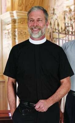 R.J. Toomey™ Men's Black Neckband Short Sleeve Shirt