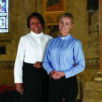 R.J. Toomey™ Woman's Black Tab Collar Long Sleeve Blouse