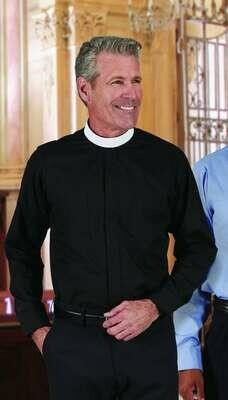 R.J. Toomey™ Men's Black Neckband Long Sleeve Shirt
