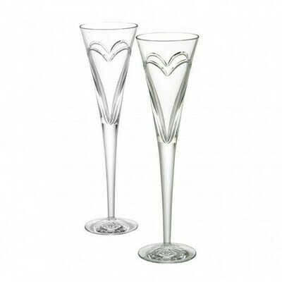 Waterford® Wishes Love and Romance Toasting Flute, Pair