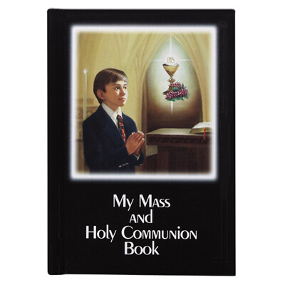 My Mass and Holy Communion Laminated Hard Cover Book- Boy