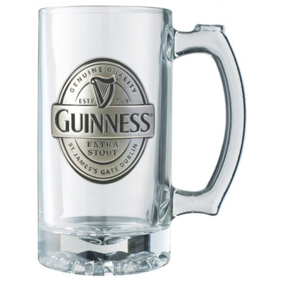 Guinness® Label Tankard with Pewter Logo