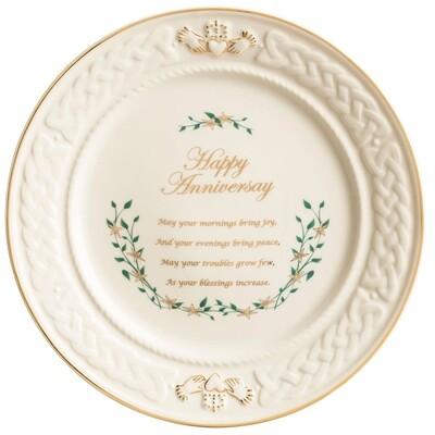 Belleek Happy Anniversary Plate