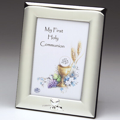 First Holy Communion Silverplated Picture Frame