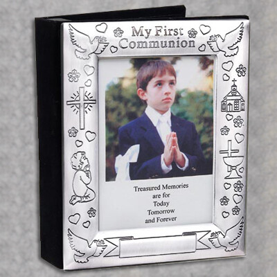 First Holy Communion Silverplated Photo Album