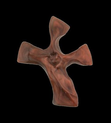 The Original Clinging Cross- Dark Tortoise/Copper Color- Shiny Finish