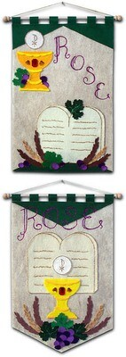 DELUXE First Communion Banner Kit, 12 in. x 18 in., 10 Commandments