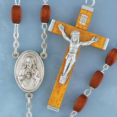 Square Wood Rosary