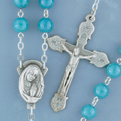 Blue Marble Look Rosary